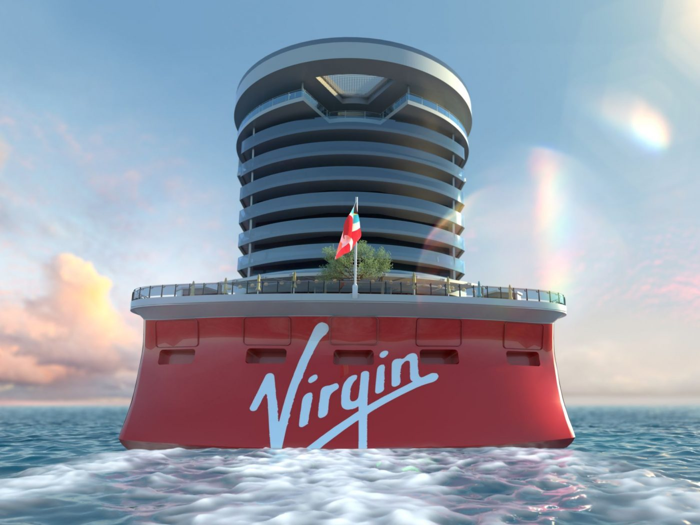 Sir Richard Branson revela o primeiro navio da Virgin Voyages