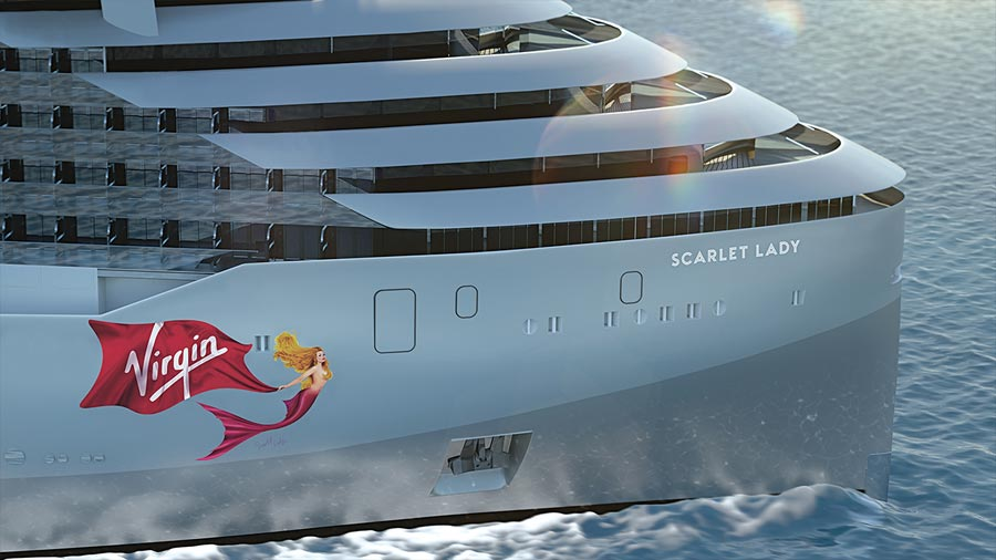 Scarlet Lady é o nome do primeiro navio da Virgin Voyages, de Richard Branson (e é só para adultos)